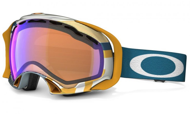 Oakley Splice - Polished White / VR50 Pink Iridium - Skibril