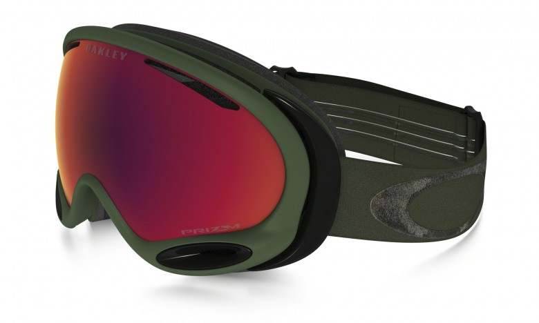 Oakley A Frame 2.0 (Asian Fit) Engine Room - Metalist Army Green / Prizm Snow Torch Iridium - OO7077-07 Skibril