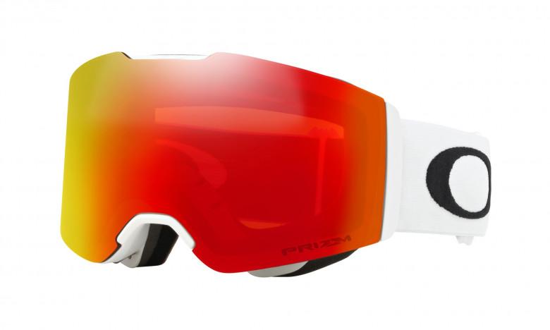 Oakley Fall Line Matte White / Prizm Snow Torch Iridium - OO7085-08 Skibril