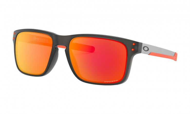 Oakley Holbrook Mix Ember Collection Matte Grey Smoke / Prizm Ruby - OO9384-1557