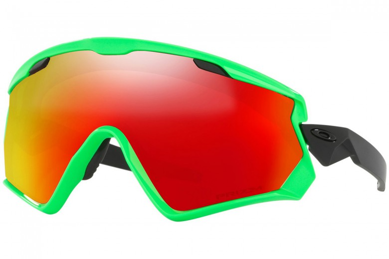 Oakley Wind Jacket 2.0 80's Green + Prizm Snow Torch Iridium OO7072-04