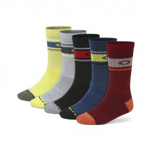 Oakley Performance Basic Crew Sock 5 Pack - Mixed Colours - 93234-999-L Sokken