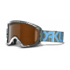 Oakley O2 XL - Factory Pilot 1242 / Black Iridium & HI Persimmon - 59-493 Skibril